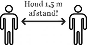 HOUD 1,5 M AFSTAND